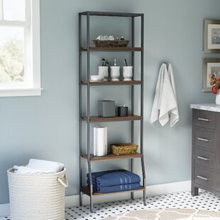 andes 6 tier etagere 2175 w x 675 h bathroom shelf - Bathroom Etagere