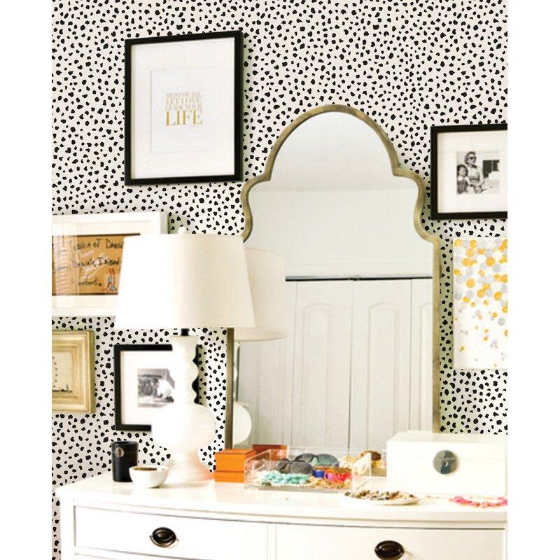 Wrought Studio Mckinnon Speckle Paintable Peel And Stick Wallpaper Panel Reviews Wayfair