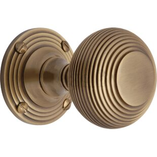 Reeded Mortice Knob (Set of 2) by Heritage Brass