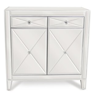 2 Drawer Mirrored Accent Cabinet