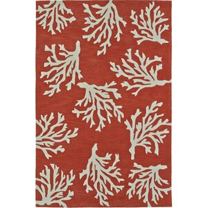 Bovina Hand-Tufted Red Area Rug