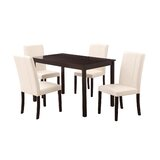 Lockmoor 5 Piece Solid Wood Dining Set by Latitude Run®
