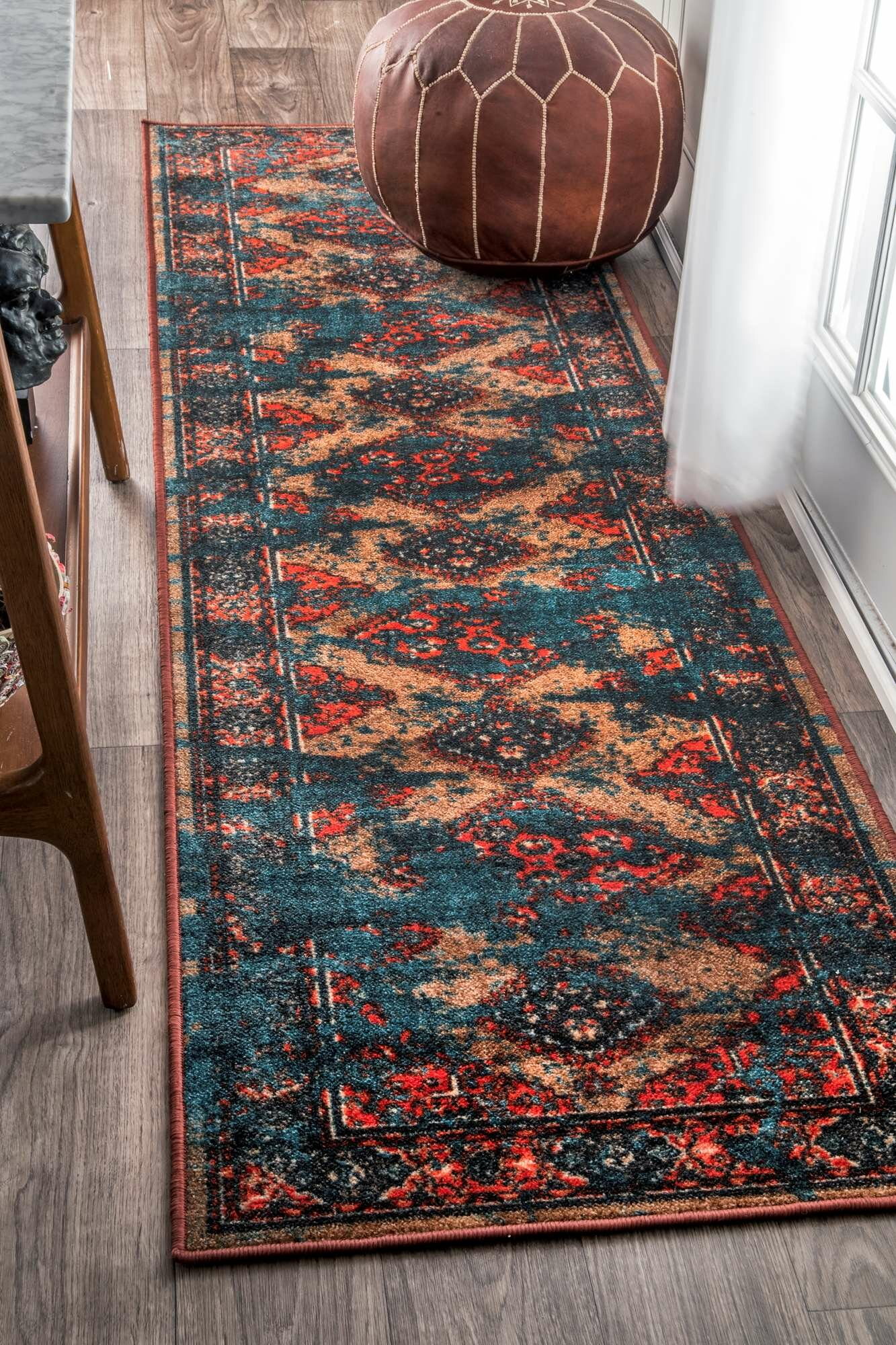 Yarra Blue Red Area Rug Reviews Wayfair
