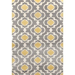 Melrose Polypropylene Gray Yellow Area Rug