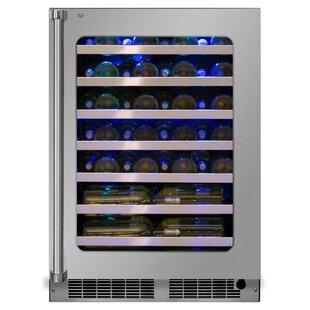 48 Bottle Professional High-Efficiency Single Zone Built-In Wine Cooler