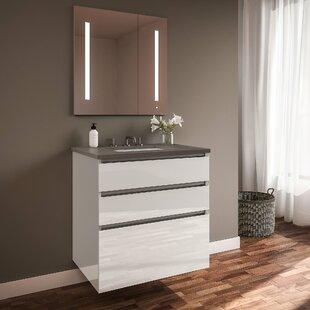 Curated Cartesian 36 Wall-Mounted Single Bathroom Vanity Set By Robern