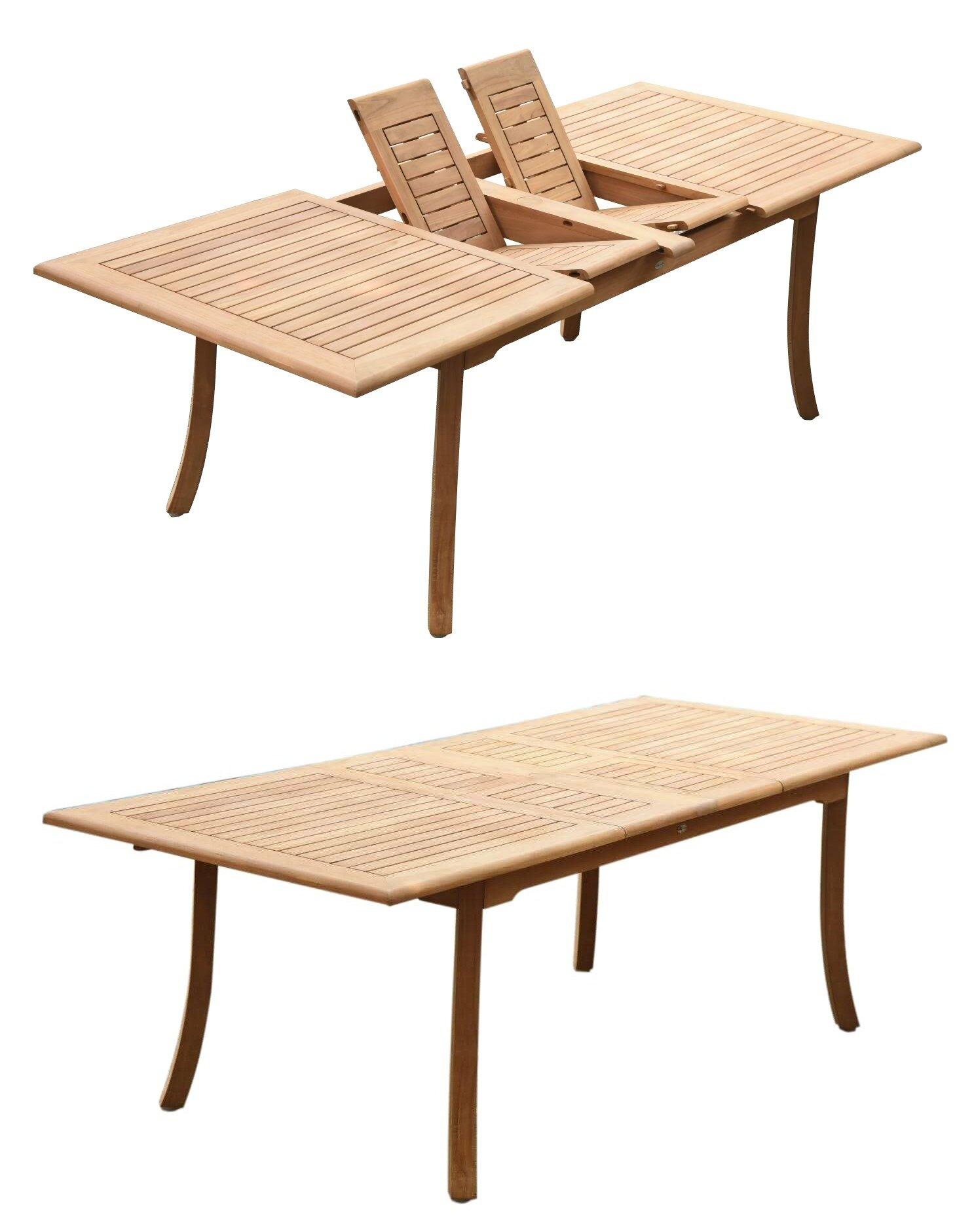 Abram Extendable Teak Dining Table