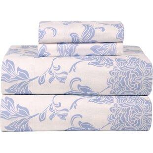 Celeste Home Ultra Soft Flannel Sheet Set in Blue & Ivory