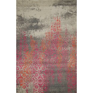 Reynoldsburg Gray/Orange/Pink Area Rug ByBungalow Rose