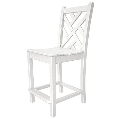Tremendous Polywood Chippendale 24 Inch Counter Stool Frame Finish White Cjindustries Chair Design For Home Cjindustriesco