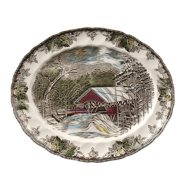 Johnson Brothers Twas The Night Bless This House Round Tray