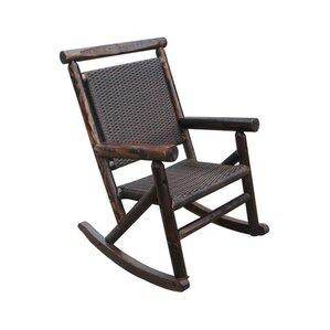 Char Log Rattan Single Rocking Chair