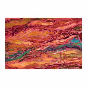 Ebi Emporium Marble Idea! Tropic Fusion Orange/Red Area Rug