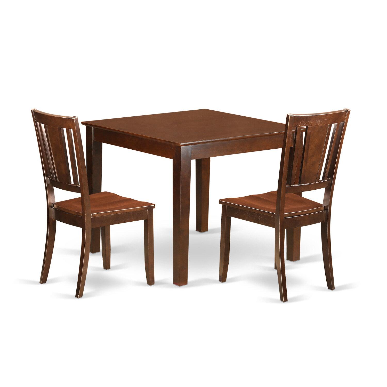 Alcott Hill Cobleskill Rubberwood Solid Wood Dining Set Wayfair