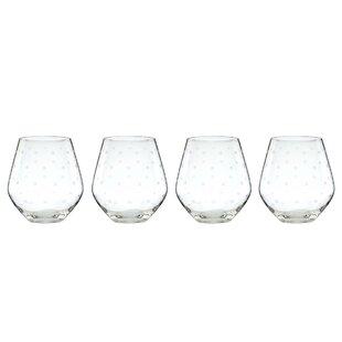 Larabee Dot 16 oz. Red Wine Glass (Set of 4)