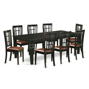 Beesley 9 Piece Rectangular Hardwood Dining Set DarHome Co