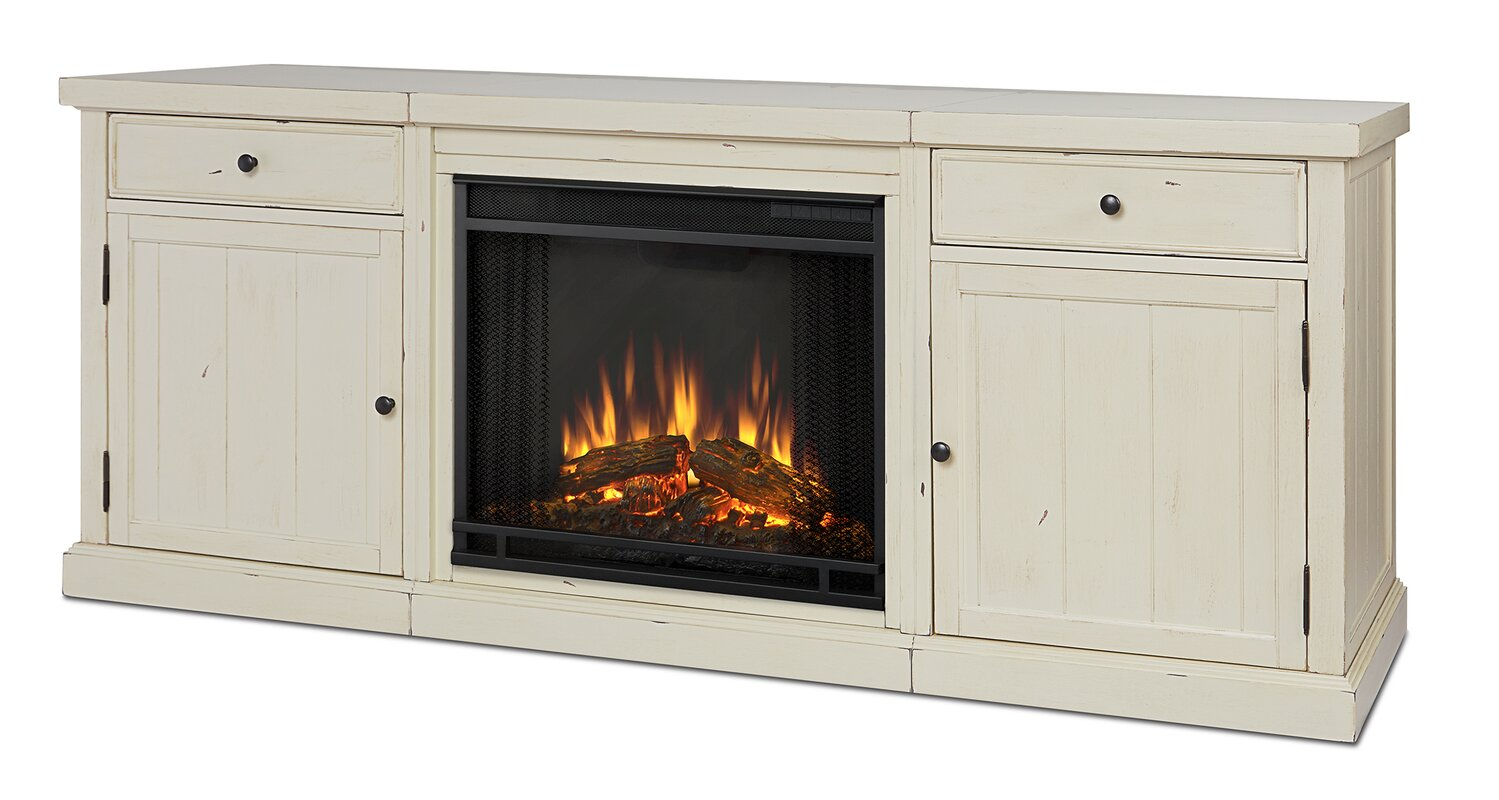 real flame cassidy entertainment unit with electric fireplace
