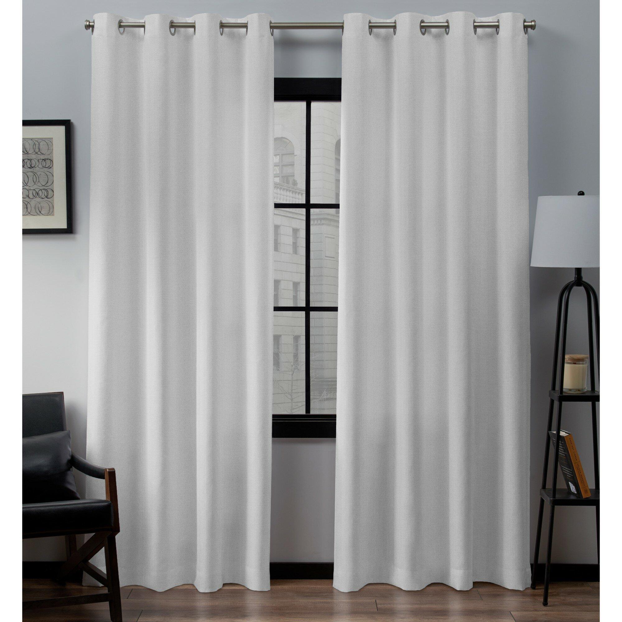 Trent Austin Design Aaliyah Solid Color Semi Sheer Grommet Curtain Panel Reviews Wayfair