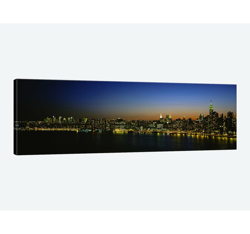 East Urban Home Illuminated Cityscape New York City New York Usa Photographic Print On Canvas Wayfair
