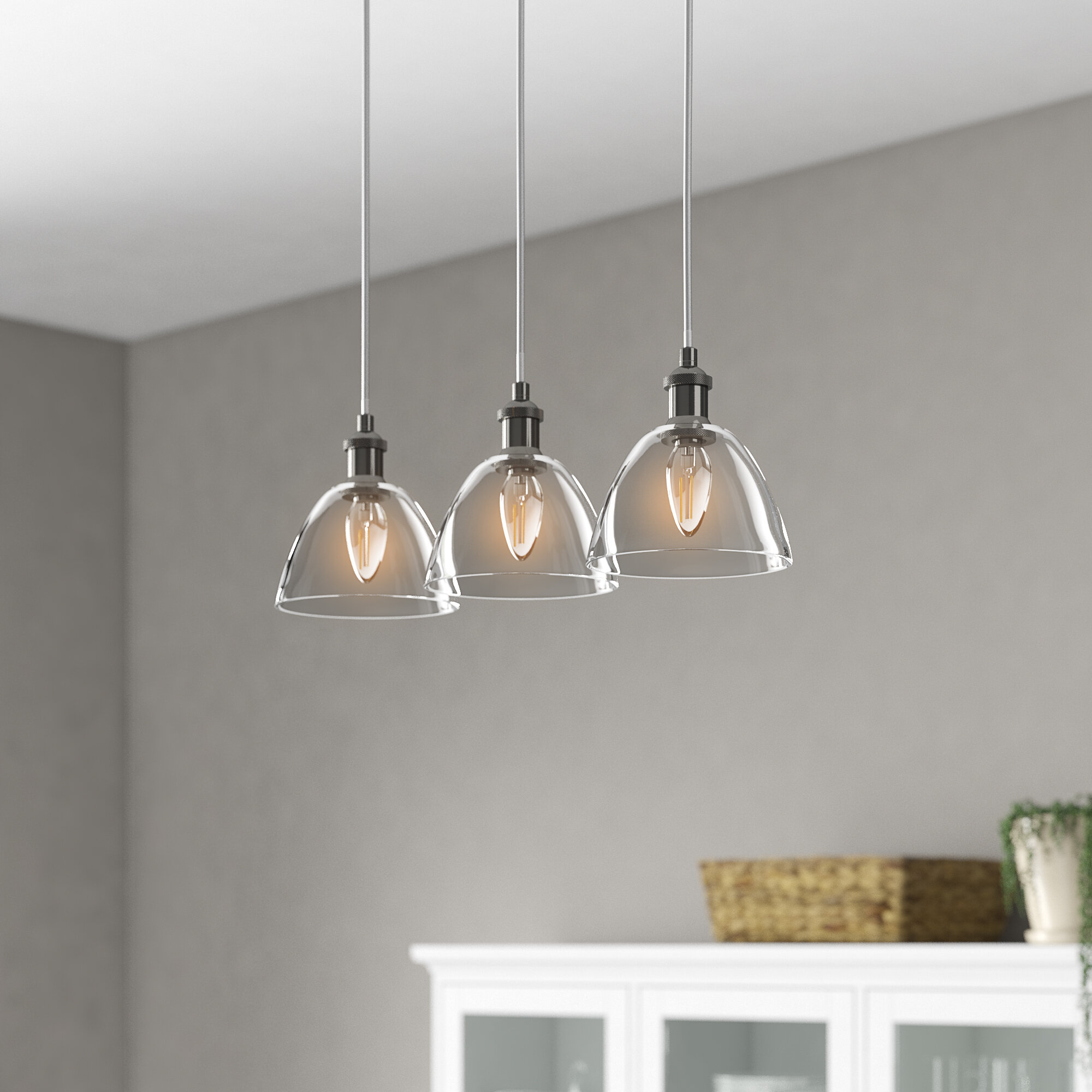 Marlow Home Co Mellen 3 Light Kitchen Island Pendant Reviews Wayfair Co Uk