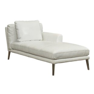 Woodrow Leather Chaise Lounge by Orren Ellis Read Reviews