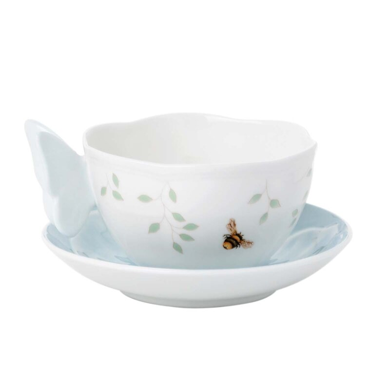Butterfly Meadow 8 oz. Teacup and Saucer