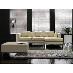 Tachani Leather Corner Sectional  sc 1 st  Wayfair : sectional sofa leather - Sectionals, Sofas & Couches