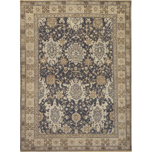 Purchase One-of-a-Kind Fine Karabagh Hand-Knotted Wool Black/Beige Indoor Area Rug By Mansour