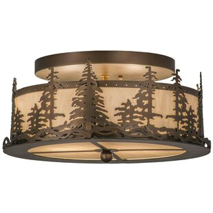 Evenson 2-Light Outdoor Flush Mount