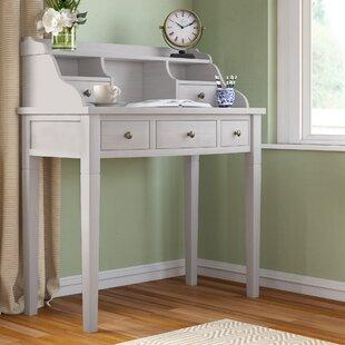 OlavoSecretary Desk with Hutch by Beachcrest Home