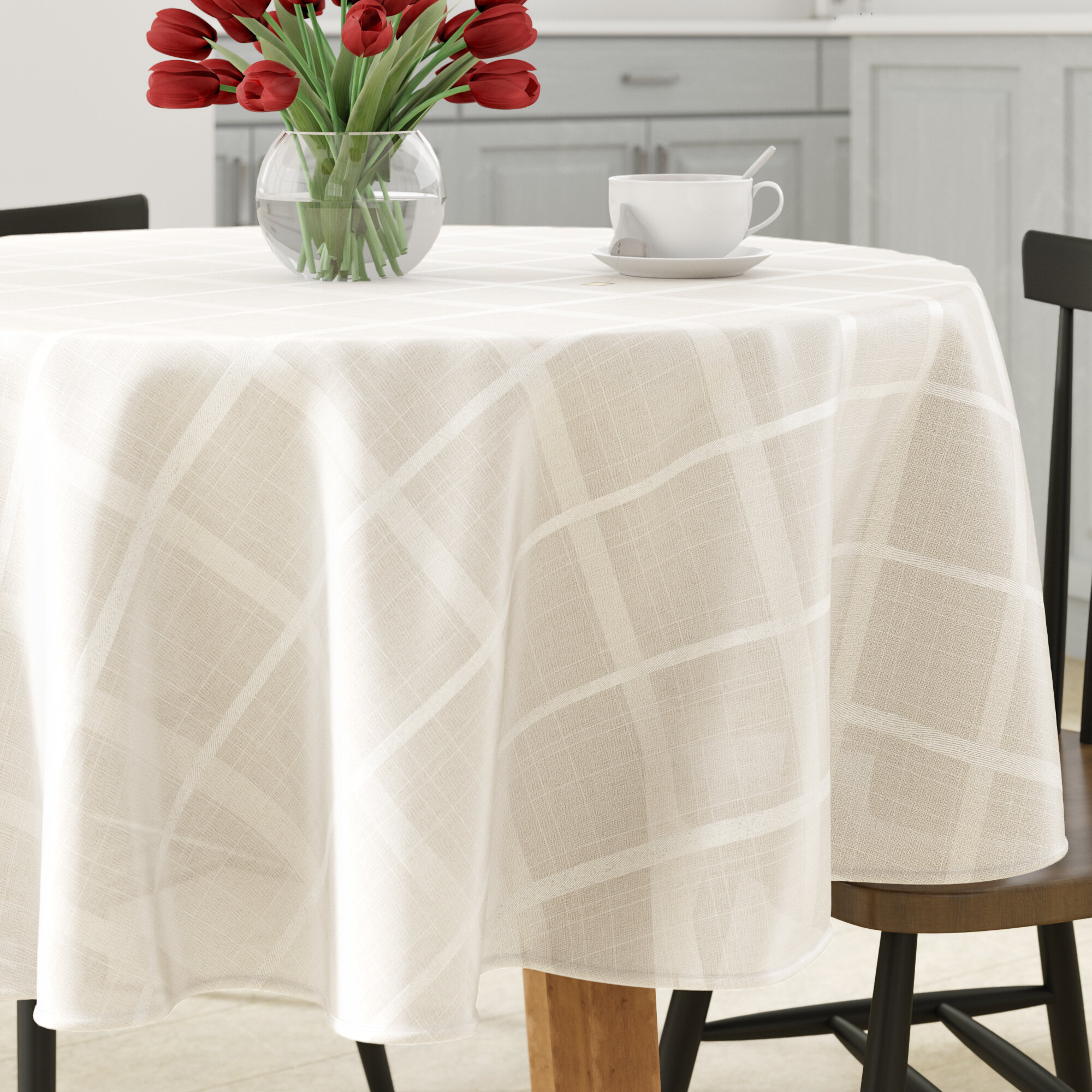 Charlton Home Karli Round Tablecloth