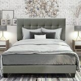 Annemirl Queen Tufted Low Profile Standard Bed by Latitude Run®