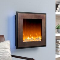 Deals on Crites Decorative Wall Mounted Electric Fireplace