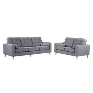 Genovese Button Tufted 2 Piece Living Room Set by George Oliver