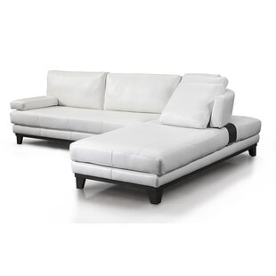 Newcastle Leather Sectional by Fornirama