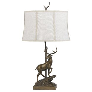 Top Reviews Helmick Deer 30 Table Lamp By Loon Peak