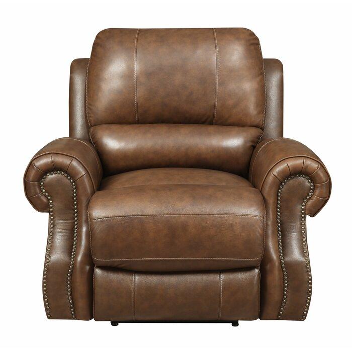 Wondrous Crete Leather Power Recliner Machost Co Dining Chair Design Ideas Machostcouk