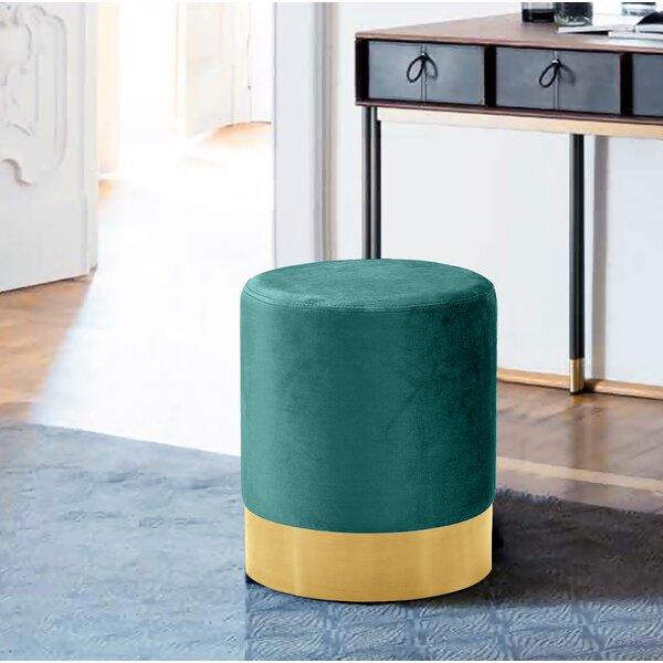 Awe Inspiring Emerald Green Velvet Ottoman Wayfair Forskolin Free Trial Chair Design Images Forskolin Free Trialorg