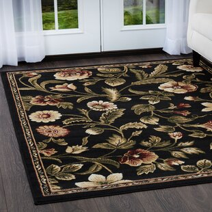 Wayfair Black Floral Plant Area Rugs You Ll Love In 2021