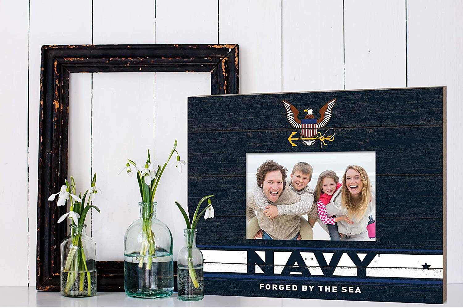 Kh Sports Fan Navy Team Spirit Slat With Logo Picture Frame Wayfair