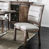 Davon Linen Upholstered Side Chair in Brown (Set of 2) by Gracie Oaks