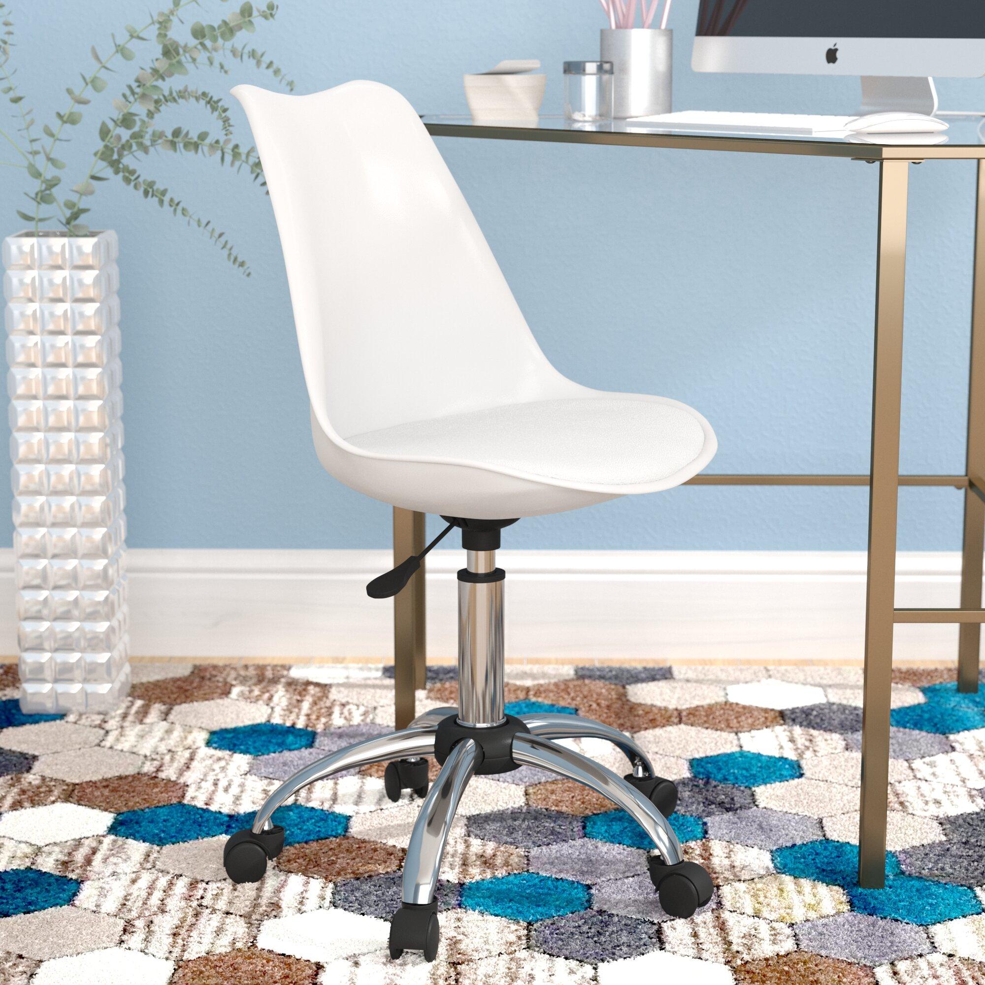 plastic office desk. Wrought Studio Whitlatch Adjustable Office Desk Chair \u0026 Reviews | Wayfair Plastic O