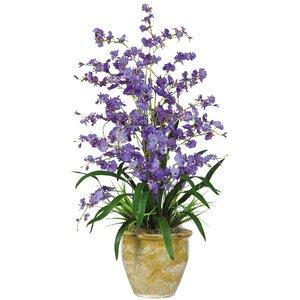 Triple Dancing Lady Silk Orchid Flower in Purple