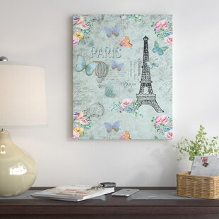 U0027Vintage Shabby Parisu0027 Graphic Art Print On Canvas