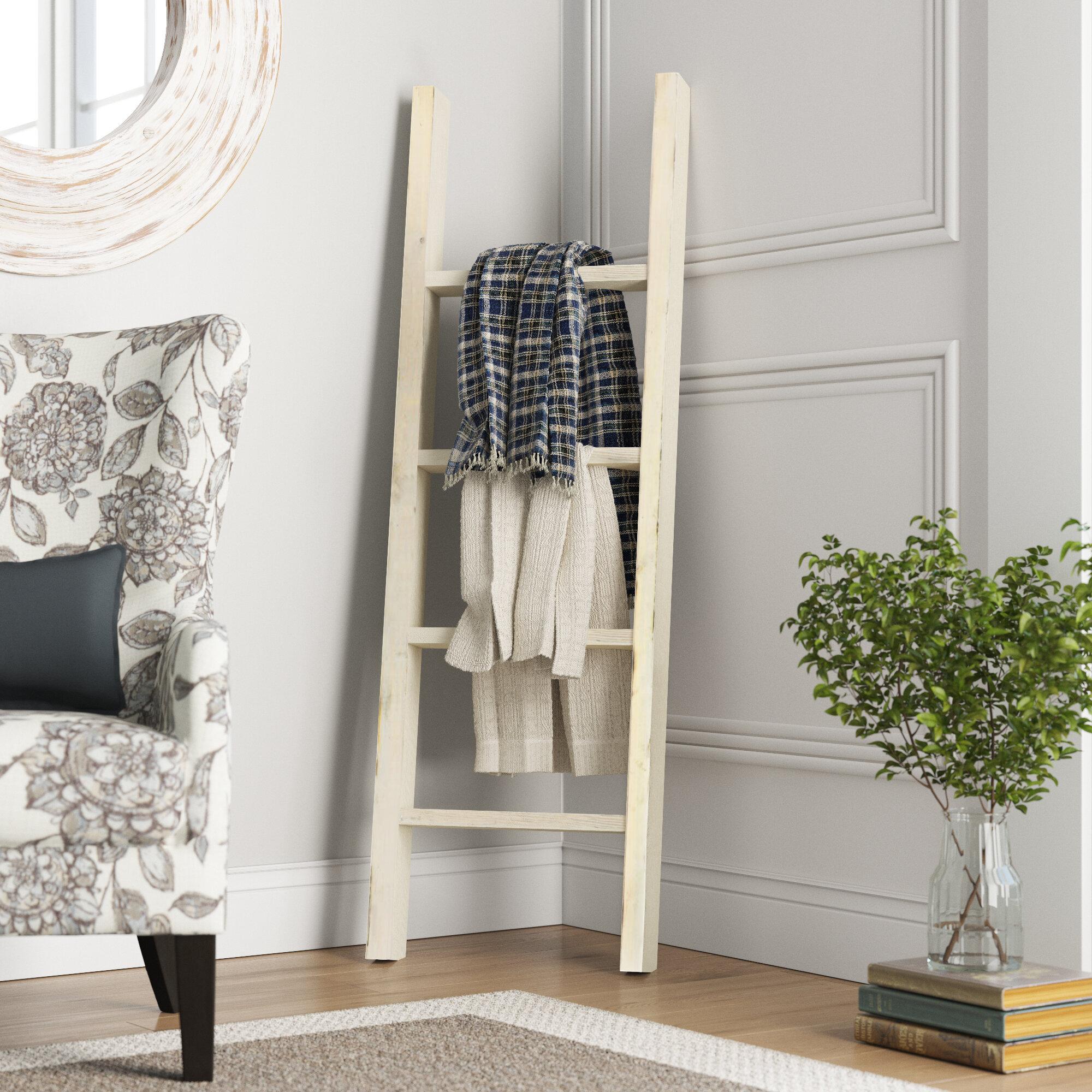 Gracie Oaks Barnwood Decor Collection Vintage Blanket Ladder Reviews Wayfair