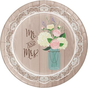 Rustic Wedding Banquet Paper Dessert Plate (Set of 24)