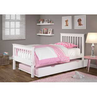 Cloey Twin Slat Bed with Trundle by Harriet Bee
