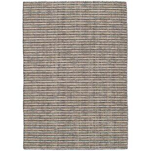 Trend Wickman Handwoven Flatweave Wool Cream/Black Area Rug ByGracie Oaks