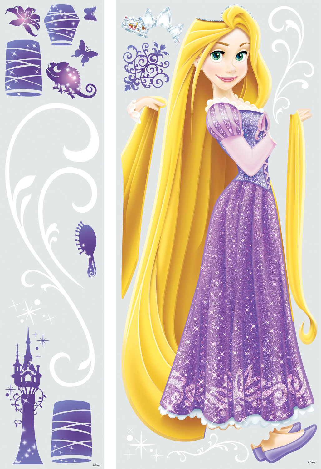 Room Mates Disney Princess Rapunzel Giant Wall Decal & Reviews | Wayfair