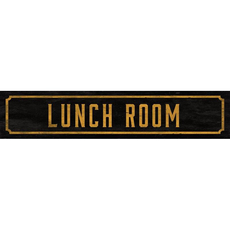 Watson Co Lunch Room Street Sign Wall Decor Wayfair